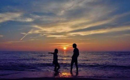 美しい海岸を…